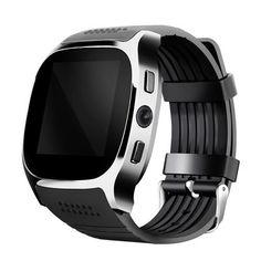 7b921e9aaae 2018 Men Smart Watch Alarm Clock Message Notifier Support Sim TF Card  Bluetooth Connectivity Smartwatch for