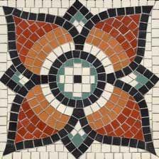 Roman-style mosaic flower