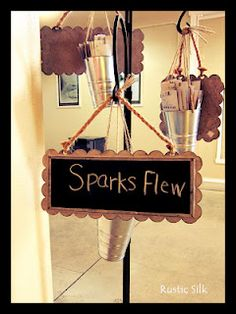 Cute way to hold sparklers for a wedding send off...