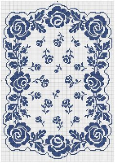 roses et rosettes free cross stitch chart or crochet chart Free Cross Stitch Charts, Cross Stitch Borders, Cross Stitch Designs, Cross Stitching, Cross Stitch Embroidery, Embroidery Patterns, Cross Stitch Patterns, Lace Patterns, Cross Stitch Rose