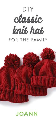 All the kids, mom, and dad will be cozy as can be when you make these DIY Classic Knit Hats for your family. By making them in the yarn color of your choice, you can have handmade gifts ready for Christmas thanks to the full project tutorial from JOANN.