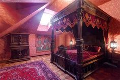 gothic wiccan decor interior bed bedroom victorian witch furniture witchy room aesthetic medieval pagan bedrooms homes magic bohemian deutsch inspiration