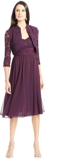 R & M Richards R&M Richards Sequin-Lace Chiffon Dress and Jacket on shopstyle.com