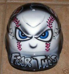 Batting Helmet Airbrushed Super Cool New w Name   eBay
