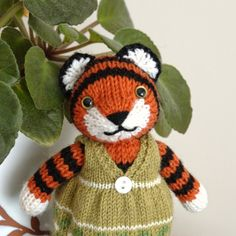 Fuzzy Thoughts: intarsia tutorial - tiger's face
