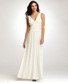 NEW Ann Taylor Silk Georgette Briana Wedding Gown Ivory Size 4
