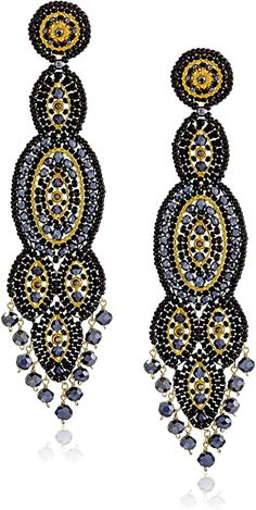 Amazon.com: Miguel Ases schwarz Quarz Schlank oval Drop Ohrringe: Jewelry Resin Jewelry, Fine Jewelry, Handmade Jewelry, Women Jewelry, Jewellery, Fashion Earrings, Fashion Jewelry, Chandelier Earrings, Drop Earrings