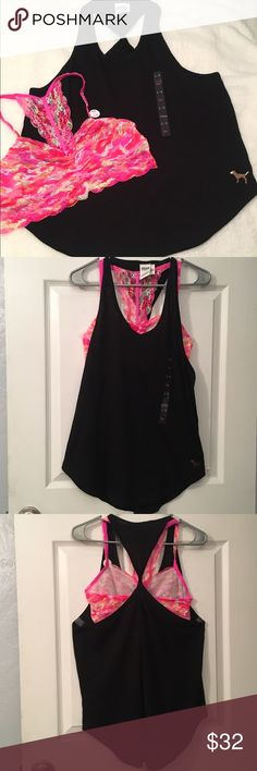 "VS PINK Twist Back Tank & Bralette NWT Large Victoria's Secret PINK Twist Back Tank.  New With Tags.  Size large.   And, 1 VS PINK Lace Racerback Bralette new with tags size large.  See pictures. No trades.  No holds.  All offers (lowest ?'s) via make ""offer"" button only please (reasonable offers).  Thanks for looking and Happy Poshing! Props/background items are not included.  I want to sell both of these together.   PINK Victoria's Secret Tops Tank Tops"
