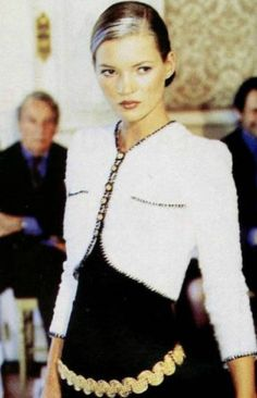 somethingvain:    chanel haute couture s/s 1997, kate moss