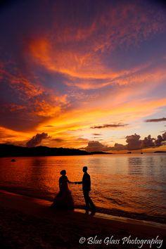 Barefoot Beach, Beach Weddings, Virgin Islands, Celestial, Sunset, Outdoor, Weddings At The Beach, The Virgin Islands, Outdoors