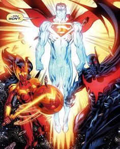 Superman, Wonder Woman, Batman the justice league trinity Marvel Dc Comics, Anime Comics, Dc Comics Superheroes, Dc Comics Characters, Dc Comics Art, Comic Books Art, Comic Art, Dc Trinity, Superman Art