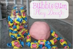 Bubble Gum Play Dough (from Teaching Mama)