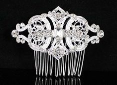 Janefashions Gatsby Clear Austrian Rhinestone Crystal Hair Comb Tiara Bridal Wedding N1809 >>> Check out this great product.