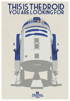 Retro Star Wars poster for R2D2