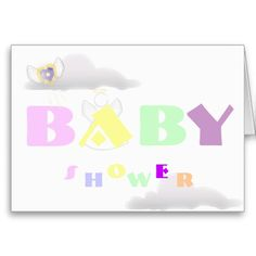 Heavenly Baby Shower-Customize Cards
