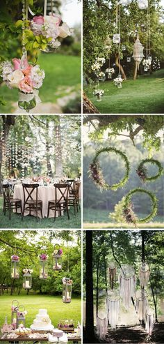 Country Wedding 12 Ideas Hanging Decoration If the weather is fine Trendy Wedding, Rustic Wedding, Our Wedding, Dream Wedding, Wedding Country, Wedding Reception Decorations, Wedding Venues, Deco Champetre, Summer Wedding Colors