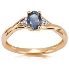 Pierścionek z Diamentami i Szafirem, 1295PLN www.YES.pl/54393-pierscionek-z-diamentami-i-szafirem-BB-Z-000-Y01-10306S #jewellery #gold #BizuteriaYES #shoponline #accesories #pretty #style