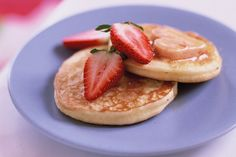 These delicious pikelets, accompanied by heart-shaped butter, will bring a smile to the grumpiest of family members.