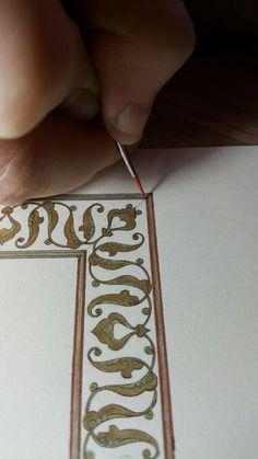 Font Bubble, Bubble Letters, Islamic Art Pattern, Pattern Art, Illuminated Letters, Illuminated Manuscript, Islamic Calligraphy, Calligraphy Art, Font Alphabet