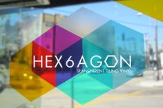 HEX6AGON Transparent Tiling Vinyl - pretty awesome for clear glass!