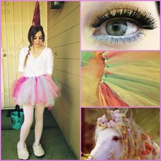 DIY Unicorn Halloween Costume & Makeup! ♡ - Madison Martine