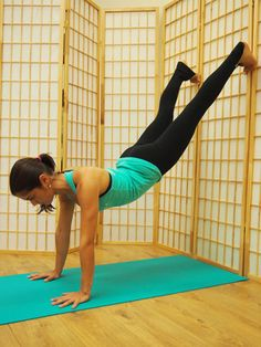 Scorpion: How To Finally Nail The Hardest Yoga Pose #Refinery29.  good tips on what to do daily to work up to this one.