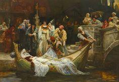 "Flickr.George Edward Robertson (British, 1864). "" The Lady of Shallot"""
