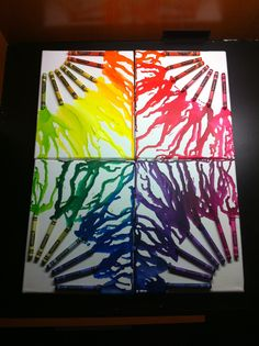 Melted Crayon Canvas Wall Art Color Wheel By PaigeCanvasCreations