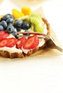 AMAZING Lemon Cookie Fruit Tarts! NO BAKE, 7 ingredients and SUPER delicious #vegan #glutenfree