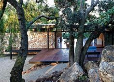 Gorgeous Prefab Westcliff Pavilion Home Boasts a Floating Stone Wall in South Africa | Inhabitat - Sustainable Design Innovation, Eco Architecture, Green Building