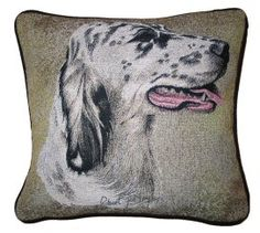English Setter Tapestry Cushion Dog Cushions, Tapestry Design, Dog Design, Dog Owners, English Setters, Great Gifts, Presents, Throw Pillows, Dogs