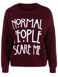 Drop Shoulder Graphic Funny Sweatshirt