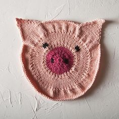 Some Pig Dishcloth by Emily Guise Free Pattern