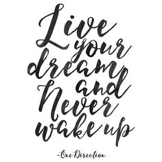 Live Your Dream And Never Wake Up,Motivational Poster,Quote Prints,Typography Posters,Inspirational Wall Art,Bedroom Decor