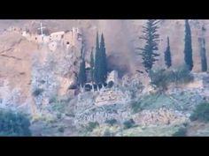 Moni Osiou Leontiou kai moni Taxiarhon Aigio (Hold on a second John Deley) Kai, Greece, Youtube, Painting, Greece Country, Painting Art, Paintings, Painted Canvas, Youtubers