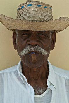 Portrait of old Cuban man with cigar Cuba 2013