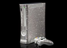 Now THIS is an xbox!! Done in Swarovski crystals!