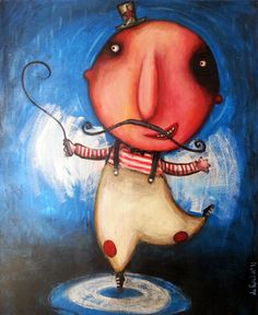 "Saatchi Art Artist Nicolás da Rocha; Painting, ""Domador"" #art"