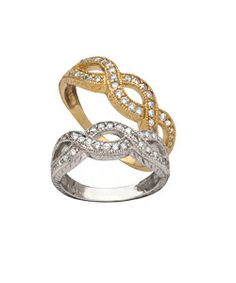 Morris & David Diamond Pave Infinity Ring #maxandchloe