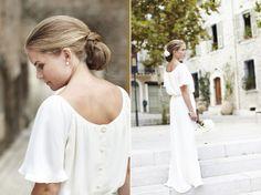 stylish wedding in france. love the dress