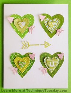 Technique Tuesday Heart Card Die Set TT-DIY067 | Top Dog Dies
