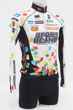 077b429f5 Squadra Team Jelly Belly Mens Size SMALL Cycling Bicycling Longsleeve Jersey