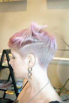 Smashing Short Haircuts And Fall 2014 Hair Color Trends Pretty Hair Color, Hair Color Pink, Pink Hair, Hair Colors, Undercut Hairstyles, Funky Hairstyles, Pretty Hairstyles, Undercut Pixie, Funky Short Hair