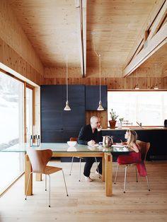Bornstein Residence, Gothenburg, Sweden by Bornstein Arkitekter #wood #black #kitchen