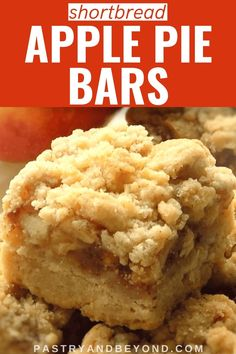 Apple Pie Bars Recipe-This delicious apple pie bars recipe with crumb topping is crunchy and soft. You'll use the same shortbread dough for the crust and the crumbles to make these easy and from scratch apple pie bars. Apple Pie Recipe Easy, Apple Dessert Recipes, Easy Baking Recipes, Apple Recipes, Sweet Recipes, Delicious Desserts, Fall Recipes, Apple Pie Filling Cake Recipe, Salmon Recipes