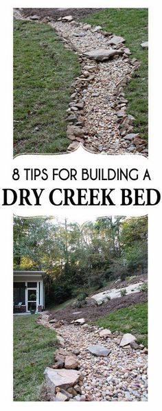 A Dry Creek Bed, for beauty and drainage; 8 tips for creating & building…