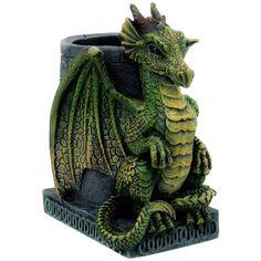 Nemesis Now Wyrm Dragon Pen Holder, Gothic Pencil Pot