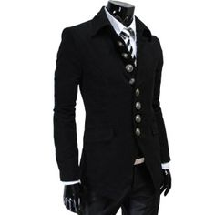 e774a7e768708 TheLees Mens Casual Slim 8 Button Jacket Blazer (I have to have it)