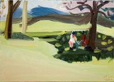 "Saatchi Art Artist ofir dor; Painting, ""Cannibals in the Park"" #art"