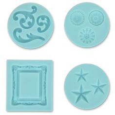 Martha Stewart Crafter argilla Silicone Stampi 4/Pkg Disegno decorativo